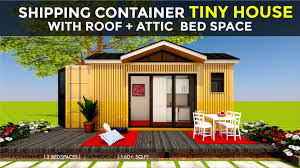 House Designs Using Shipping Containers Shipping Container Tiny House Design With An Attic Floor Plans