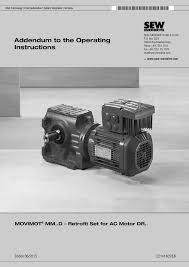 addendum to the operating instructions movimot® mm d Eurodrive Wiring Diagrams Eurodrive Wiring Diagrams #81 sew eurodrive motor wiring diagrams