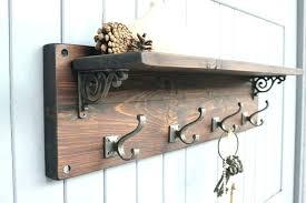 folding hooks hooks reclaimed wood coat hook shelf ma design intended for amazing home wall coat