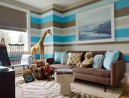 brown color in the interior home