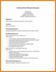 Lovely Sample Resume For Driver For 7 Driver Cv Format In Ms Word