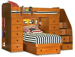 Twin Xl Bed Frame With Drawers Platform Bookcase Headboard 3 Storage