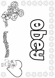 Our interactive activities are interesting and help children develop important skills. Coloring Sheet On Obedience Fo Girls Posters Girls Name Coloring Pages Obey Girly Name To Color Name Coloring Pages Coloring Pages Free Coloring Pages
