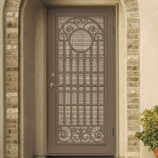 Unique Home Designs 36 In X 80 In Lexington Almond Surface Mount Unique Home Designs Security Door