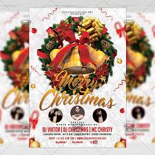 Free Christmas Flyer Templates Download Merry Christmas Free Seasonal A5 Flyer Template