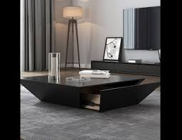 black coffee table with storage amc