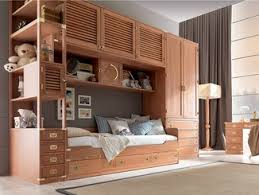 Fitted Wooden Bedroom Set With Bridge Wardrobe With Pull Out Bed TEDDY | Bedroom  Set