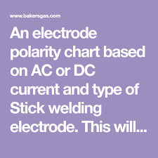 An Electrode Polarity Chart Based On Ac Or Dc Current And