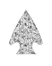 Native american arrowhead arrowhead drawing made entirely of little native