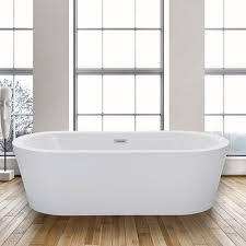 """WoodbridgeBath Woodbridge Acrylic 67"""" Freestanding Bathtub ..."""