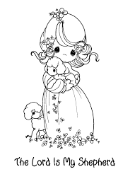 The Lord Is My Shepherd Coloring Page With Creative 62 In