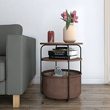 Amazon.com: Lifewit 3-Tier Round Side Table End Table Nightstand ...