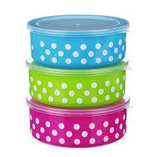 <b>Набор пищевых контейнеров 3</b> шт, пластик, 3 цвета в магазинах ...