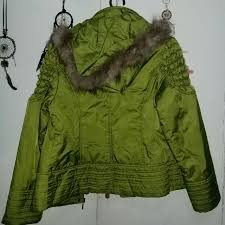 apple green winter jacket preloved women s fashion clothes on carou