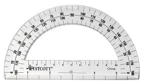 printable protractor. amazon.com: westcott 6-inch plastic 180 degree protractor, clear: office products printable protractor p