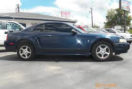 auto depot of lexington a trusted community member 2002 ford mustang blue v6 passenger side