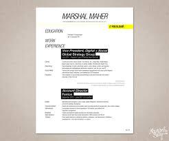 Masculine Elegant Resume Design For Mar Maher By Madge Design