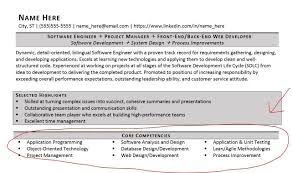 Resume Core Competencies Listing On A Examples Included Zipjob For