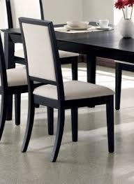 set of 2 dining chairs creme chemile distressed black finish