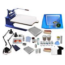 new single color screen printing kit pallet adjule press exposure unit