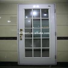 Double Entry Doors Front With Glass Inserts Solid Wood Exterior ...