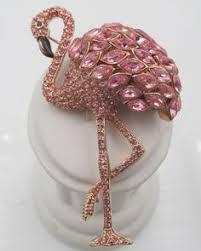 <b>Queen Flamingo</b> Swarovski Pink crystal Glamping Brooch Pin ...