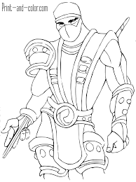 Small Picture Mortal Kombat Coloring Pages At Coloring Pages itgodme