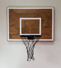 pallet wood basketball hoop with painted lines wall pertaining to for room decor 16