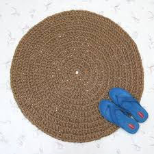 round crochet jute rug natural fiber mat rustic decor soft thick area rug