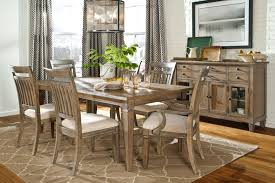 rustic dining room chairs. Dining Room : A Fancy Rustic Table In Greyish Cream With Wooden Table, Buffet, Chairs, Flowers, Scenery Painting, Tablewares And Box Chairs I
