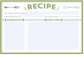 card recipe recipe card templates word excel fomats