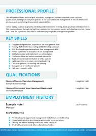 Hospitality Resumective Examples Sample Resumes For Industry
