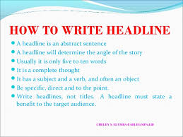 News Story Outline Template Writing A News Story Ppt Template