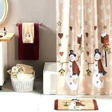 precious christmas shower curtain set curtains Precious Christmas Shower Curtain Set Home Charming Target