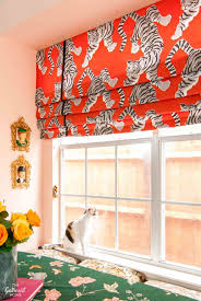 diy faux roman shade in a kitchen window seat the gathered home