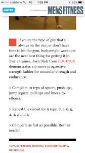 let s look at a bodyweight workout routine that i found and i m going to point out what is wrong
