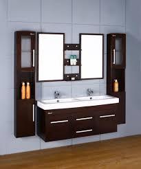 modern wall mounted bathroom vanity brown