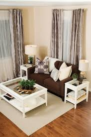 White Walls Living Room Decor Cream White Living Room And Metallics Decor Elegant Brown Sofa