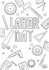 Small Picture Coloring Pages Labor Day Printable Coloring Page For Kids Labor