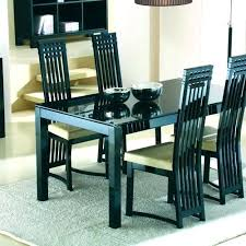 black dining chairs ikea chair incredible white table solid wood round