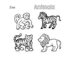 Small Picture Coloring Book Pages Of Zoo Animals Coloring Pages