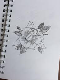 роза цветы рисунок роза в треугольниках My Drawings в 2019 г