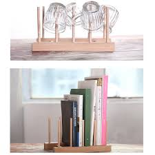 Wooden Display Stands For Plates New Multifunction Wooden Plate Rack Wood Stand Books CD Display 42