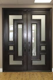 Excellent Modern Entry Doors For Home With Solid Wood Textured - Black window frames for new modern exterior