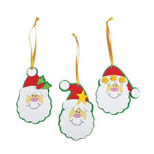 Amazon.com: Foam Simple Santa Ornament Craft Kit/Crafts/Activity/School  Supplies/Christmas Ornaments-makes 12: Home & Kitchen
