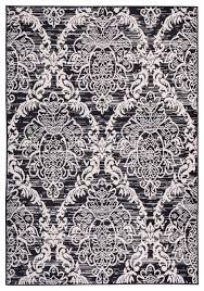 miami ginger damask black 5 3 x7 3 modern damask well woven
