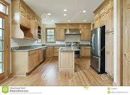 Kitchen With Oak Wood Cabinetry Stock Image Image From Oak Wood