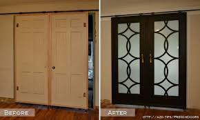 hometalk diy barn door style doors with a twist re using existing doors and cutting out middle to add style