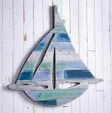 5209630008 sailboat natural wood wall decor
