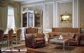 nice pattern floor classic living room decor fancy crystal